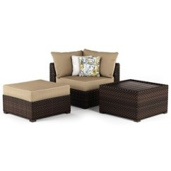 Outdoor Chair And Ottoman Ivory Leather Office Wayside Furniture Table Corner With Cushion