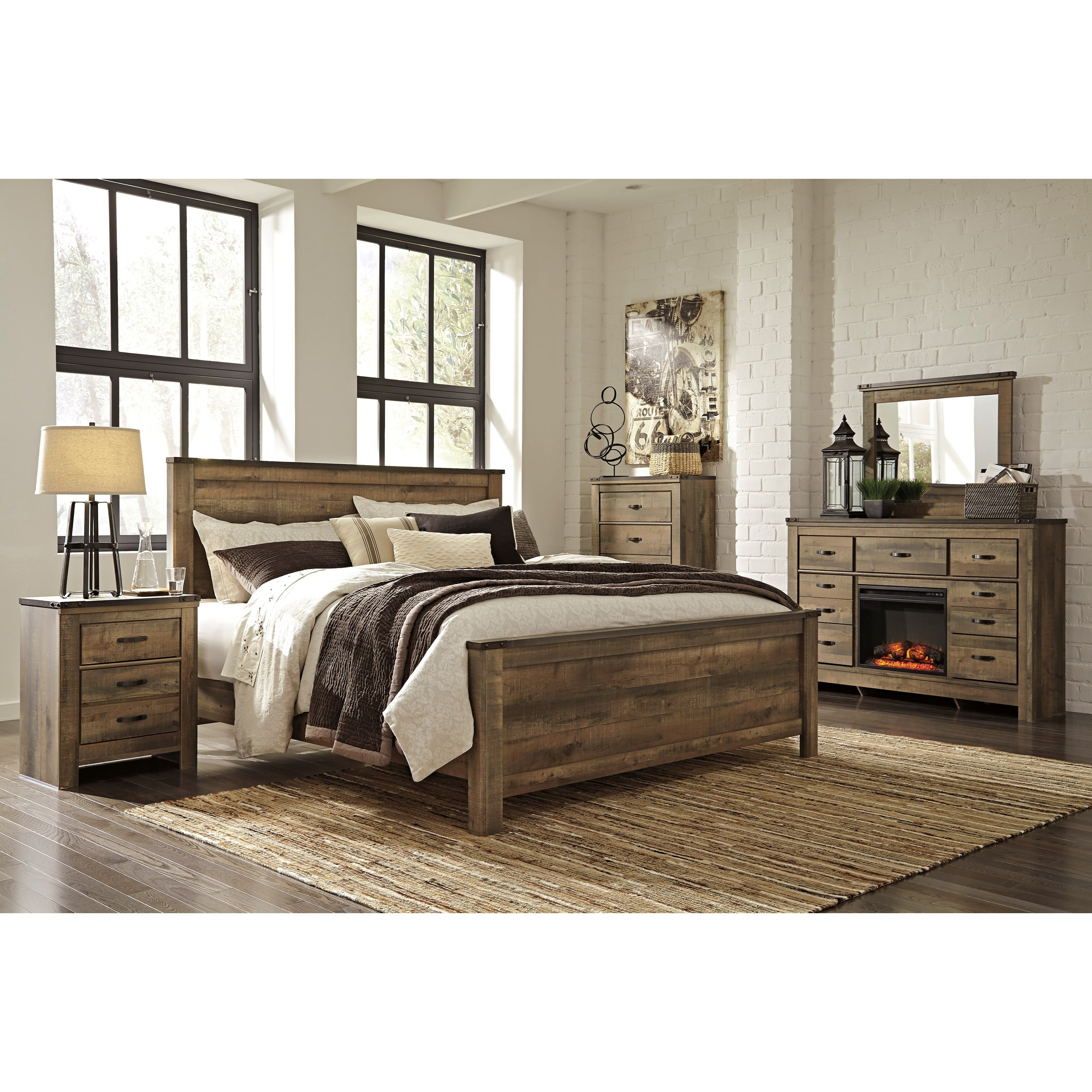 Signature Design by Ashley Trinell King Bedroom Group