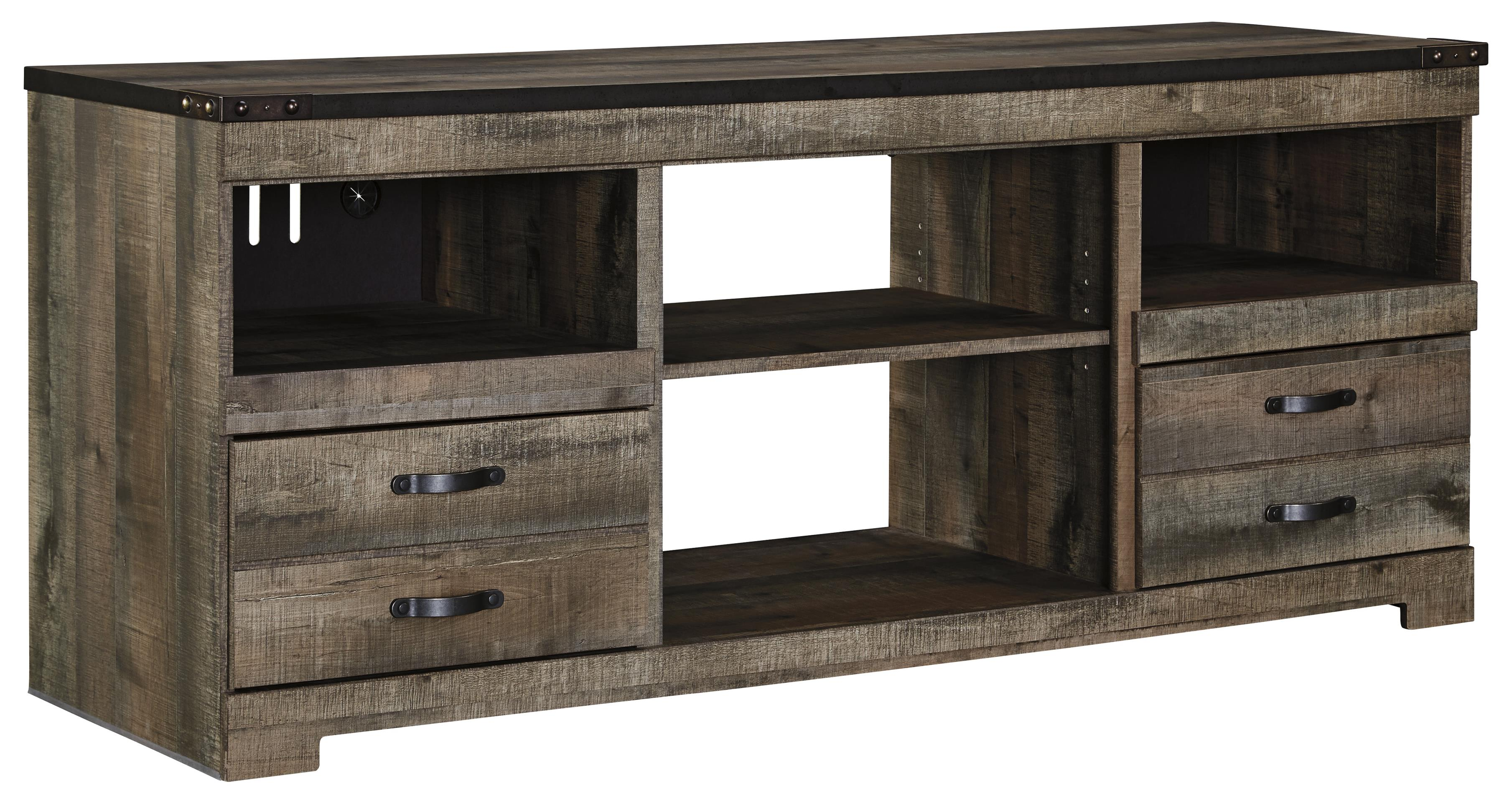 Signature Design By Ashley Trinell W446 68 Rustic Large TV