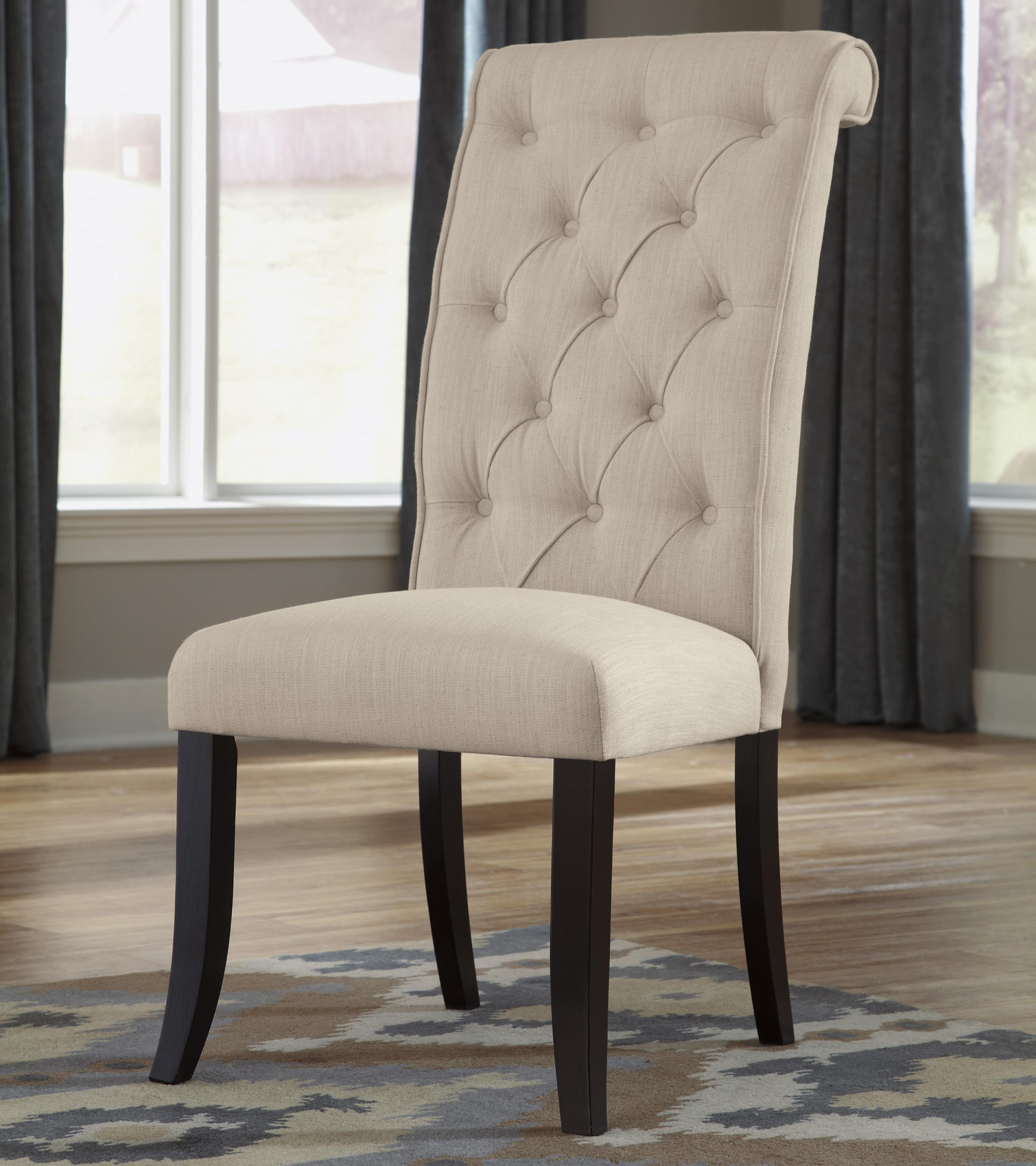 cloth dining room chairs fold up sports direct signature design by ashley tripton upholstered side chair