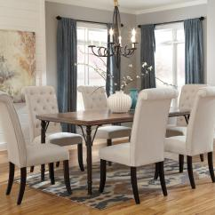 Ashley Dining Room Chairs Reading Chair Signature Design By Tripton 7 Piece Rectangular Table Set