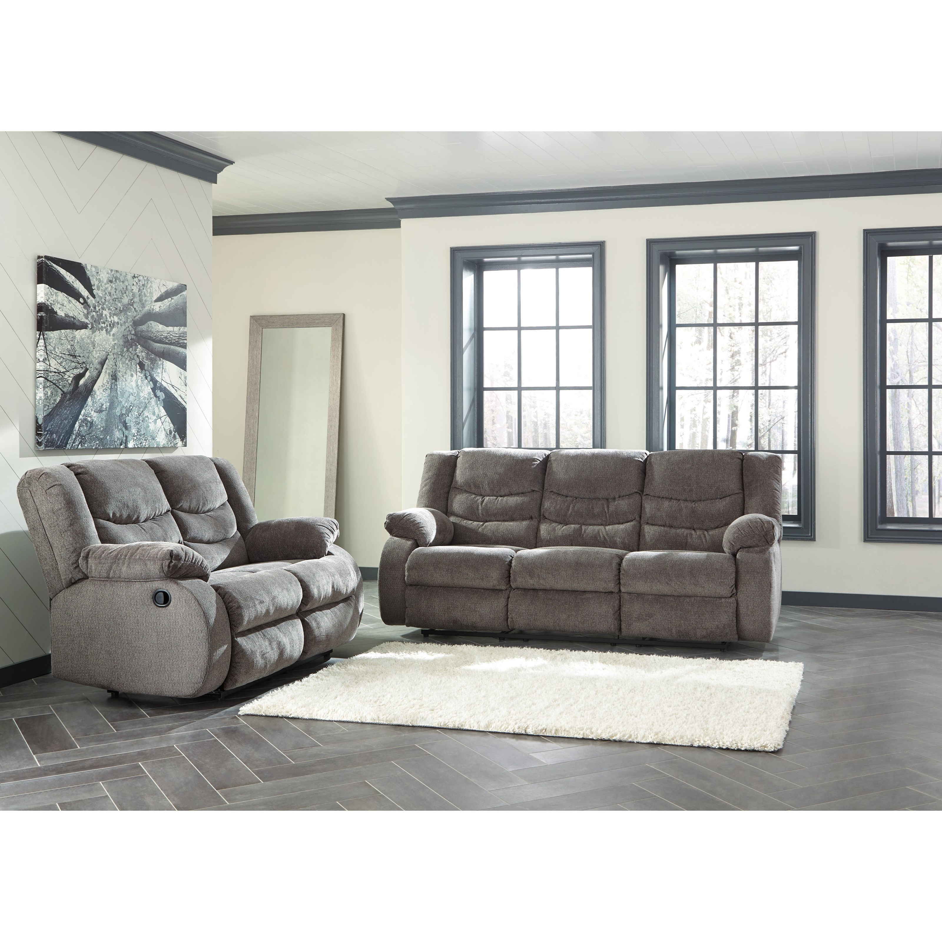ashley living room decorate small narrow signature design by tulen reclining group value