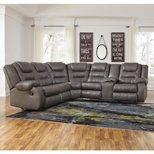 justin ii fabric reclining sectional sofa microfiber beds sofas n stuff l shaped