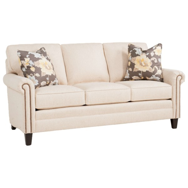 Smith Brothers 234 Traditional Mid-size Sofa With Rolled