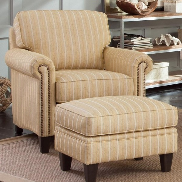 Smith Brothers 234 Traditional Chair And Ottoman With