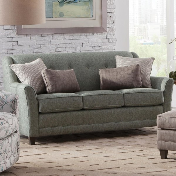 Smith Brothers 236 236-11 Casual Mid-size Sofa With Flared