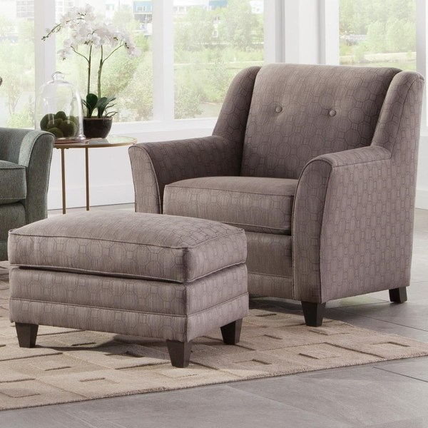Smith Brothers 236 Casual Chair And Ottoman With Flared