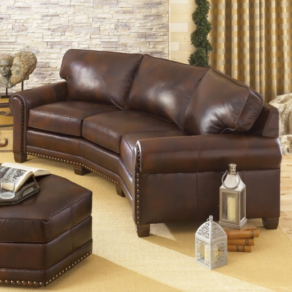 Smith Brothers 393 Traditional Conversation Sofa With
