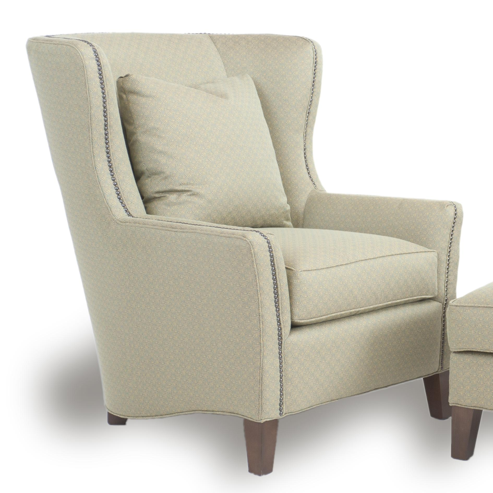 chairs and ottomans upholstered desk chair mat smith brothers accent sb contemporary wingback with track arms by