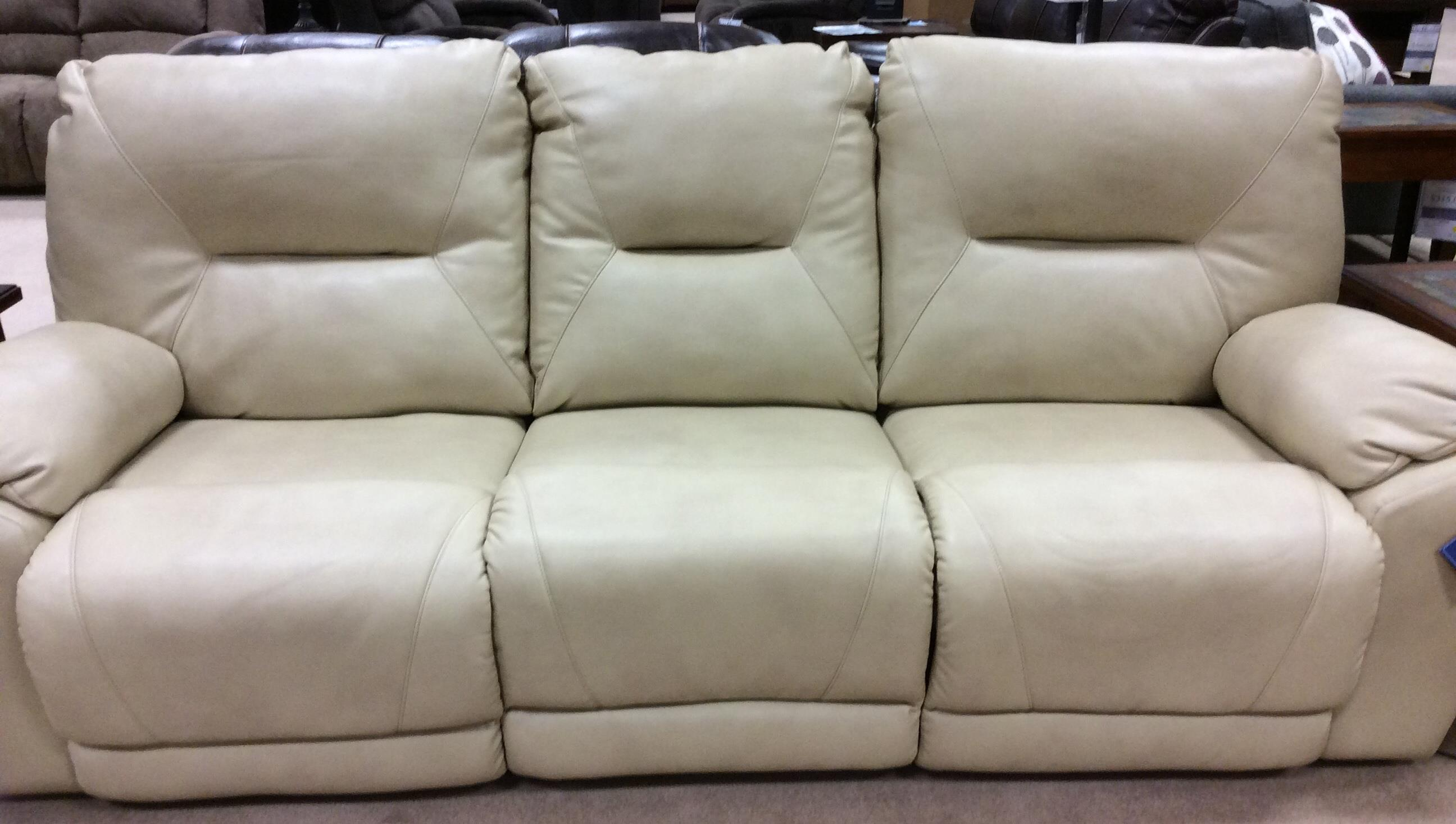 lane molly double reclining sofa retro orange leather | slipcover ...