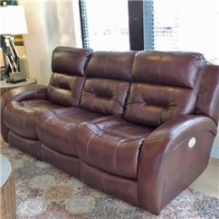 Power Reclining Sofa Made In Usa Linen With Nailhead Trim Sofas Belfort Furniture W Headrest And Lumbar