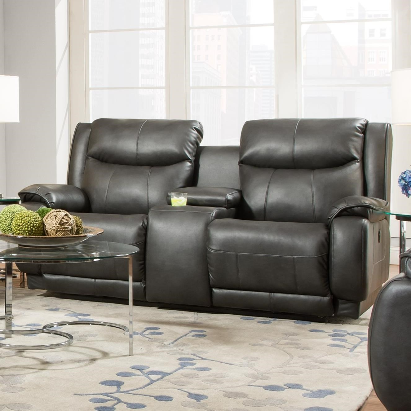 southern motion velocity reclining sofa hard foam for 875-78p double console ...