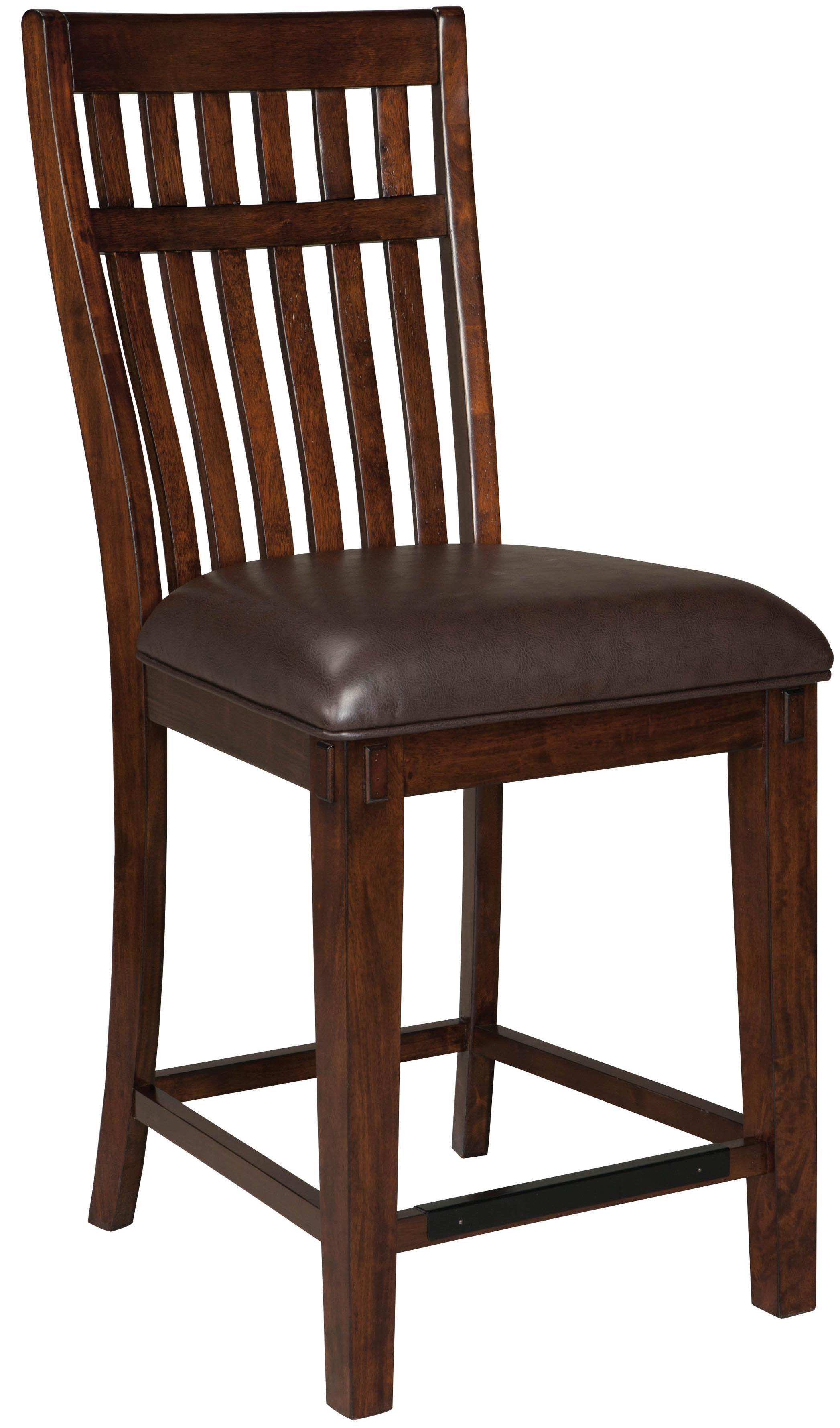 upholstered counter chairs dining metal legs uk standard furniture artisan loft 13634 stool with 24 seat height coconis mattress 1st bar stools