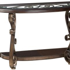 Sofa Console Tables Wood Ellis Sofascore Standard Furniture Bombay Old World Table With Glass Top And S Scroll Legs By