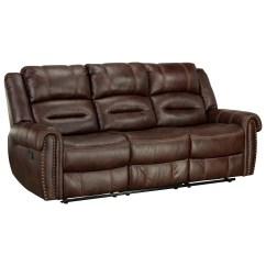 Reclining Sofa With Nailhead Trim Klippan Instructions Standard Furniture Cunningham 4250391 Casual