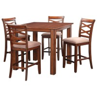 Standard Furniture Redondo Rustic Square Table and Chair ...