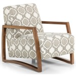 Stanton Accent Chairs And Ottomans Contemporary Upholstered Accent Chair With Wood Track Arms Wilson S Furniture Exposed Wood Chairs