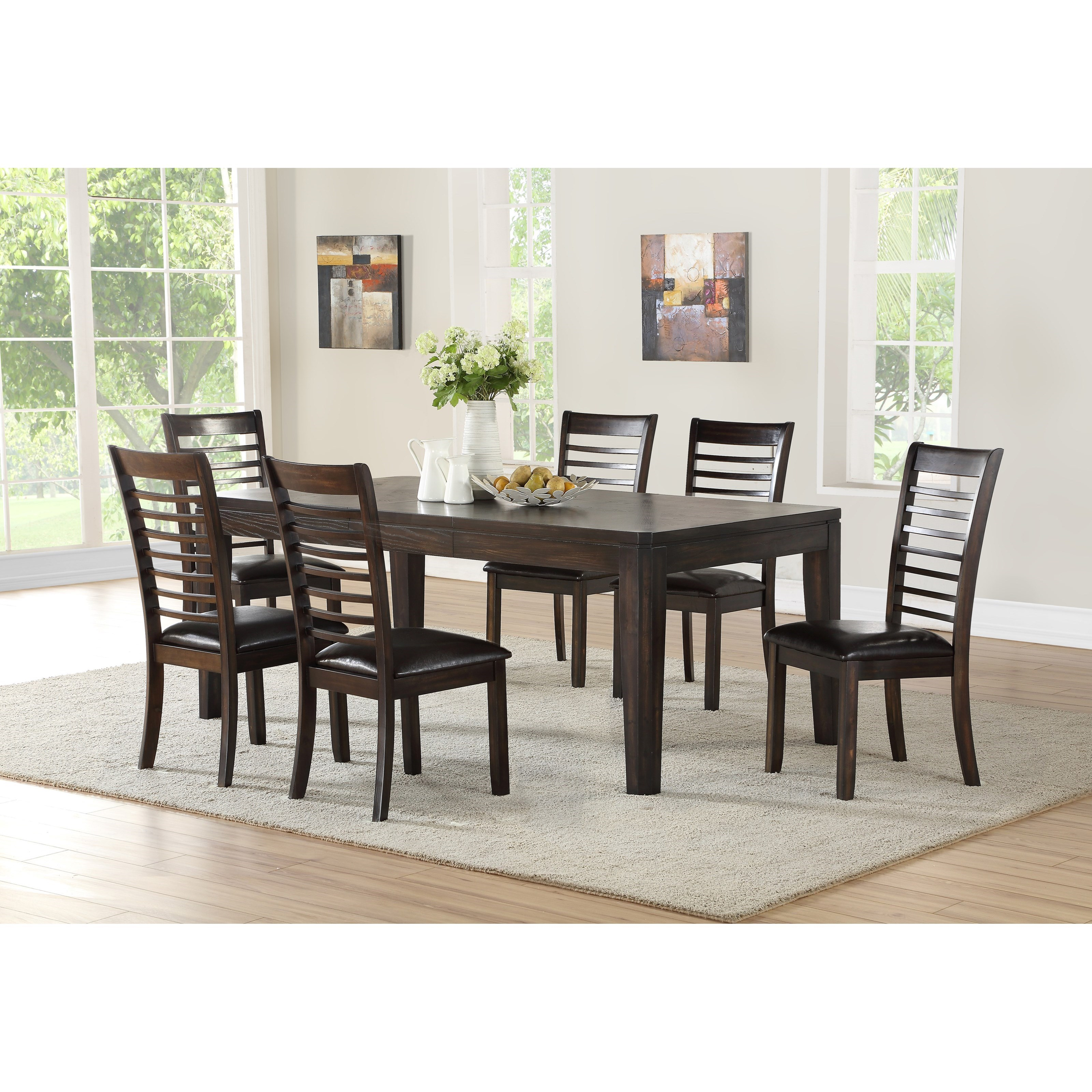 Dining Room Upholstered Chairs Ally Casual 7 Piece Table And Upholstered Chair Set By Steve Silver At Vandrie Home Furnishings