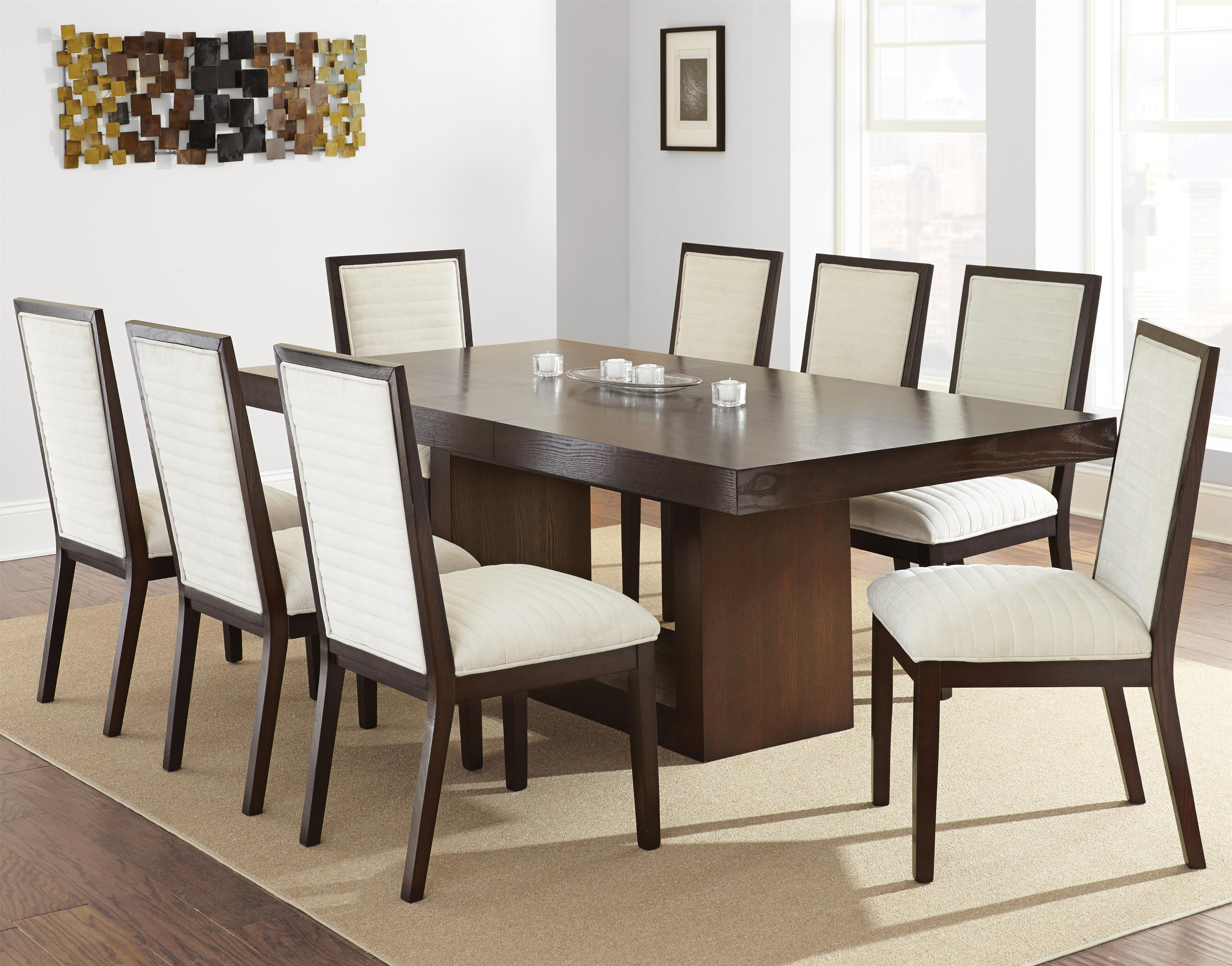 steve silver dining chairs rent and tables antonio contemporary set with upholstered side 7 piece