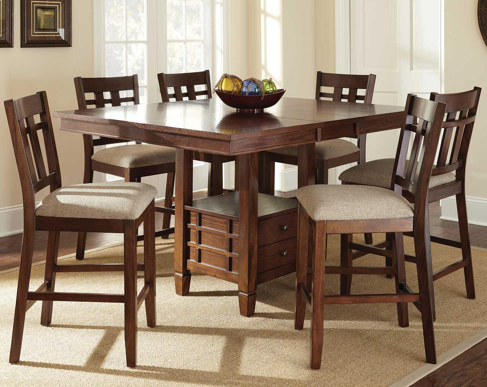 high top kitchen table set pfister faucet repair steve silver bolton 7 piece counter height dining with storage