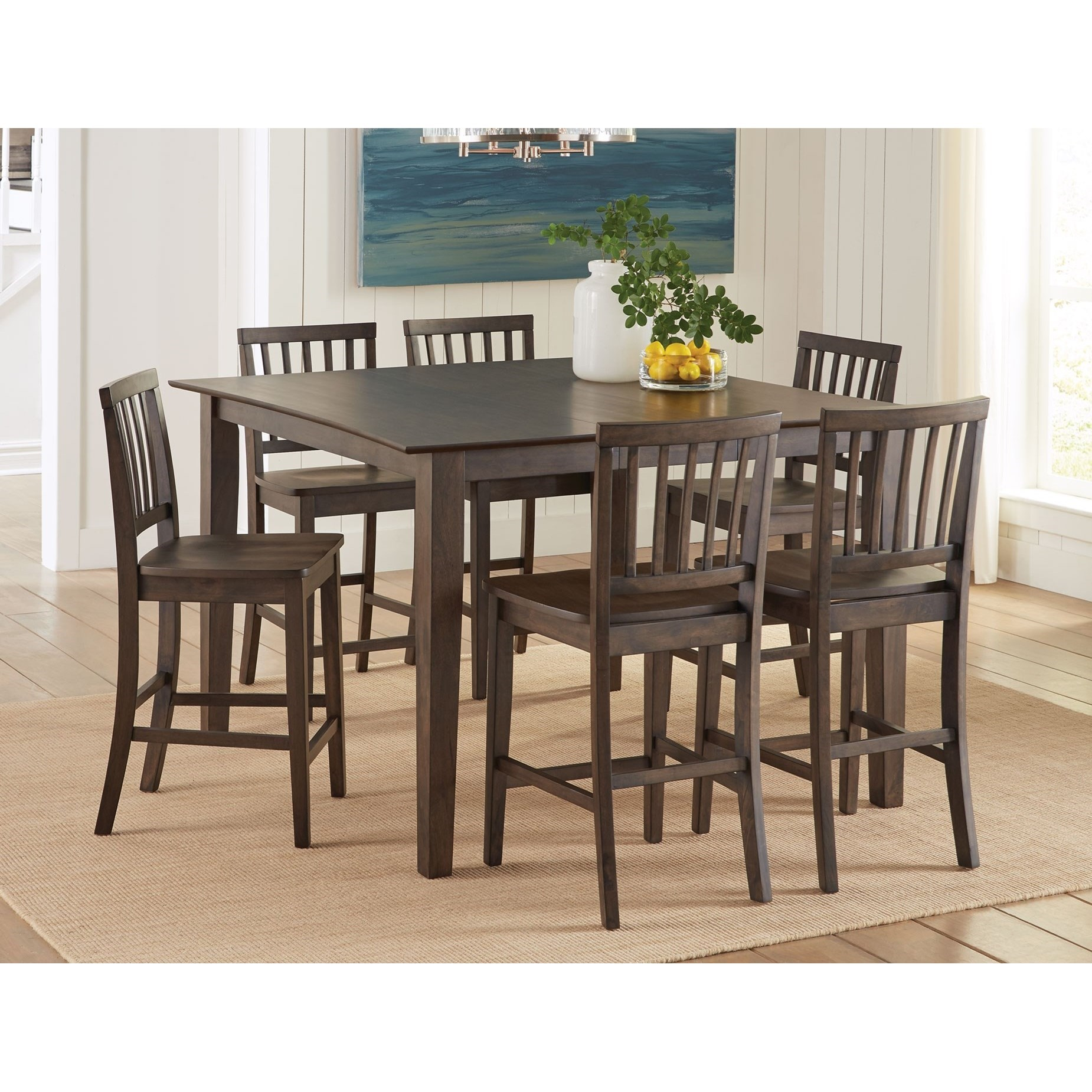 Prime Branson 7 Piece Counter Height Dining Set  Prime