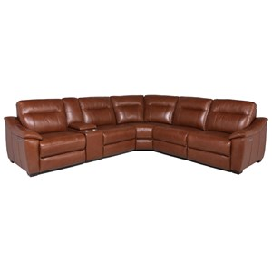 casa contemporary power reclining 6 piece sectional with power headrests by steve silver at dunk bright furniture