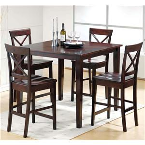 high top table chair set kroehler value and sets walker s furniture 5 piece pub