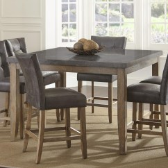Steve Silver Dining Chairs Stuffed Animal Debby Transitional Square Counter Height Table