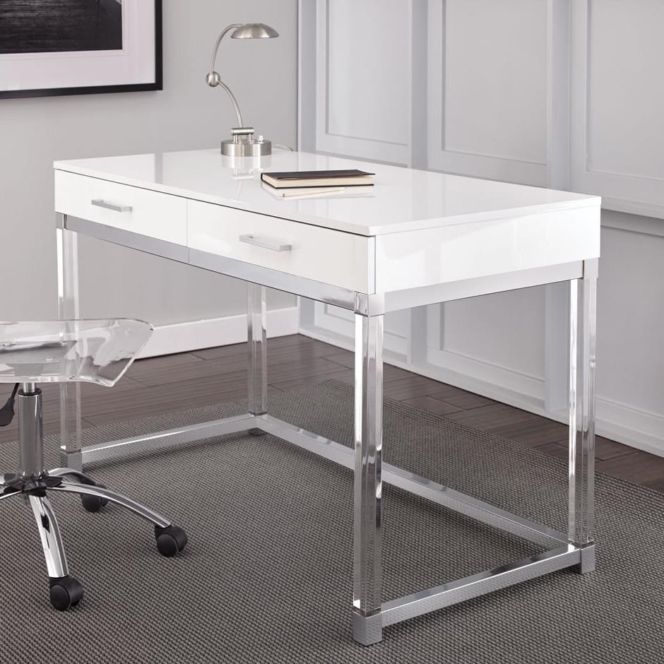 Steve Silver Everett Two Drawer Writing Desk with Acrylic