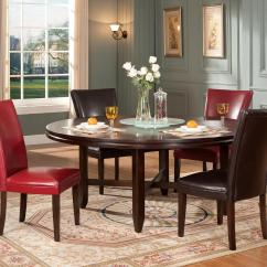 Steve Silver Dining Chairs Office Chair On Sale Hartford 5 Piece Contemporary 72 Round Table Parsons Set