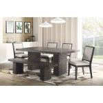Steve Silver Mila Contemporary Dining Table And Chair Set With Bench Rooms For Less Table Chair Set With Bench