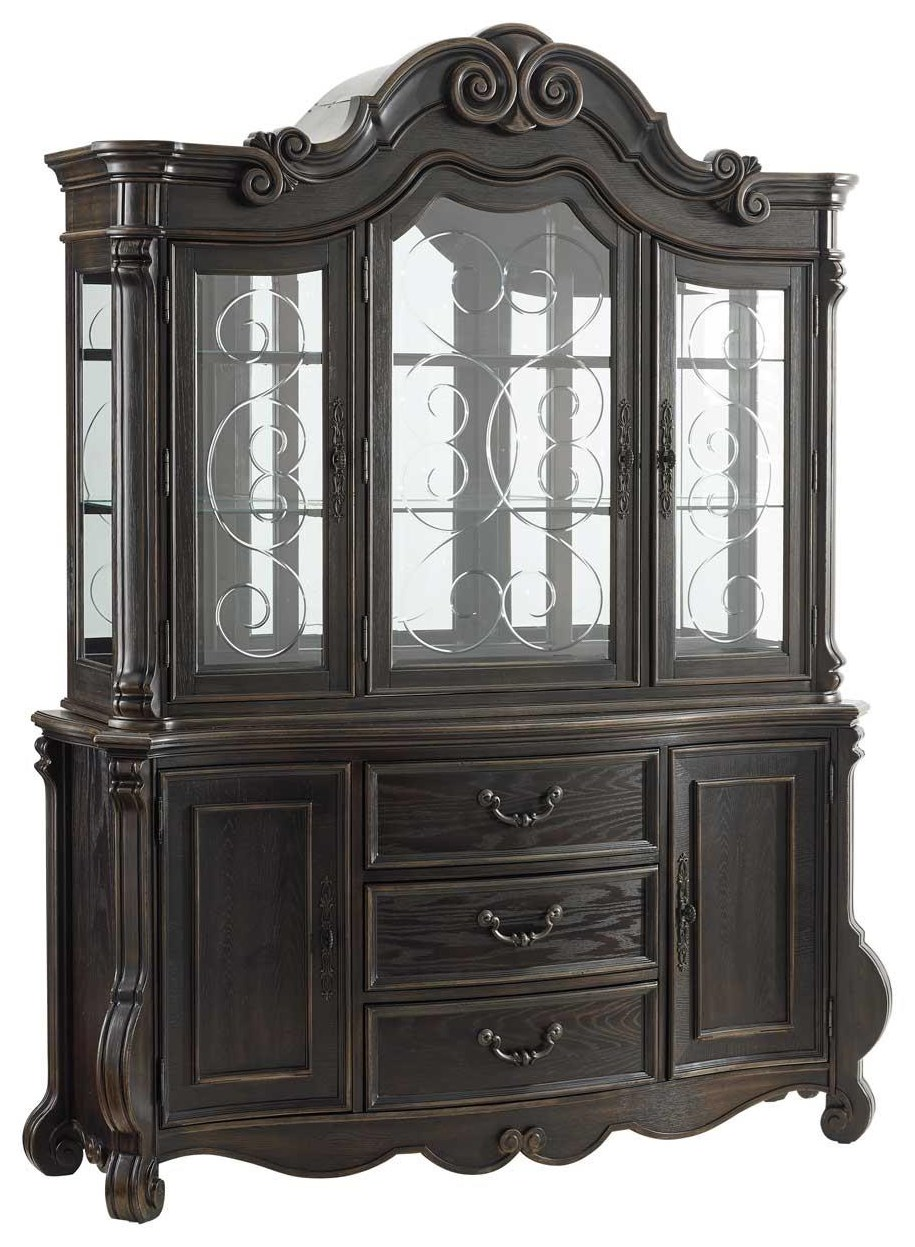 rhapsody china cabinet with lighting