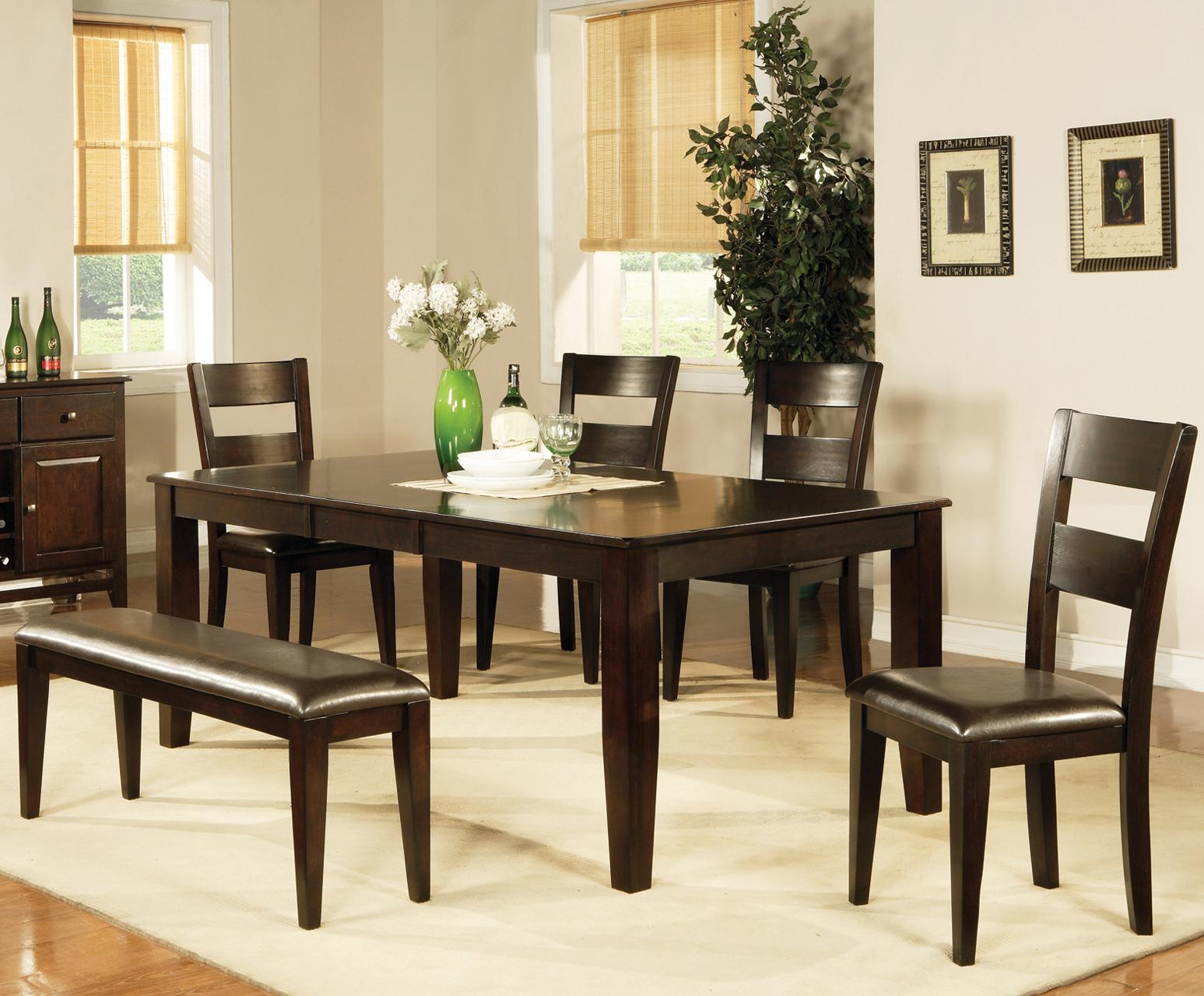 steve silver dining chairs egg pod chair victoria 7 piece set with side and bench
