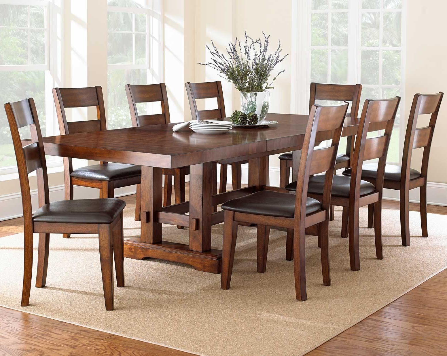 Black Dining Room Table And Chairs Zappa 9 Piece Dining Set With Ladderback Chairs By Vendor 3985 At Becker Furniture World
