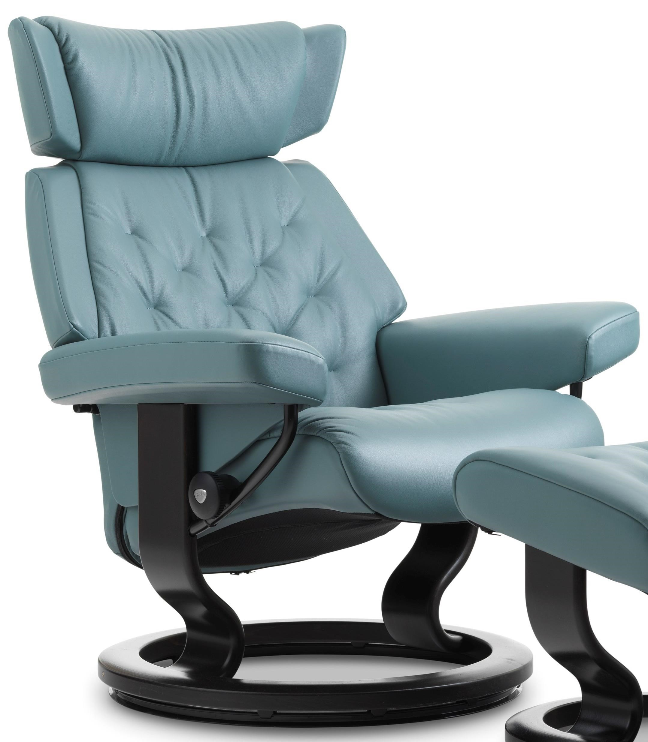 Modern Recliner Chair Skyline Medium Reclining Chair With Classic Base By Stressless At Dunk Bright Furniture
