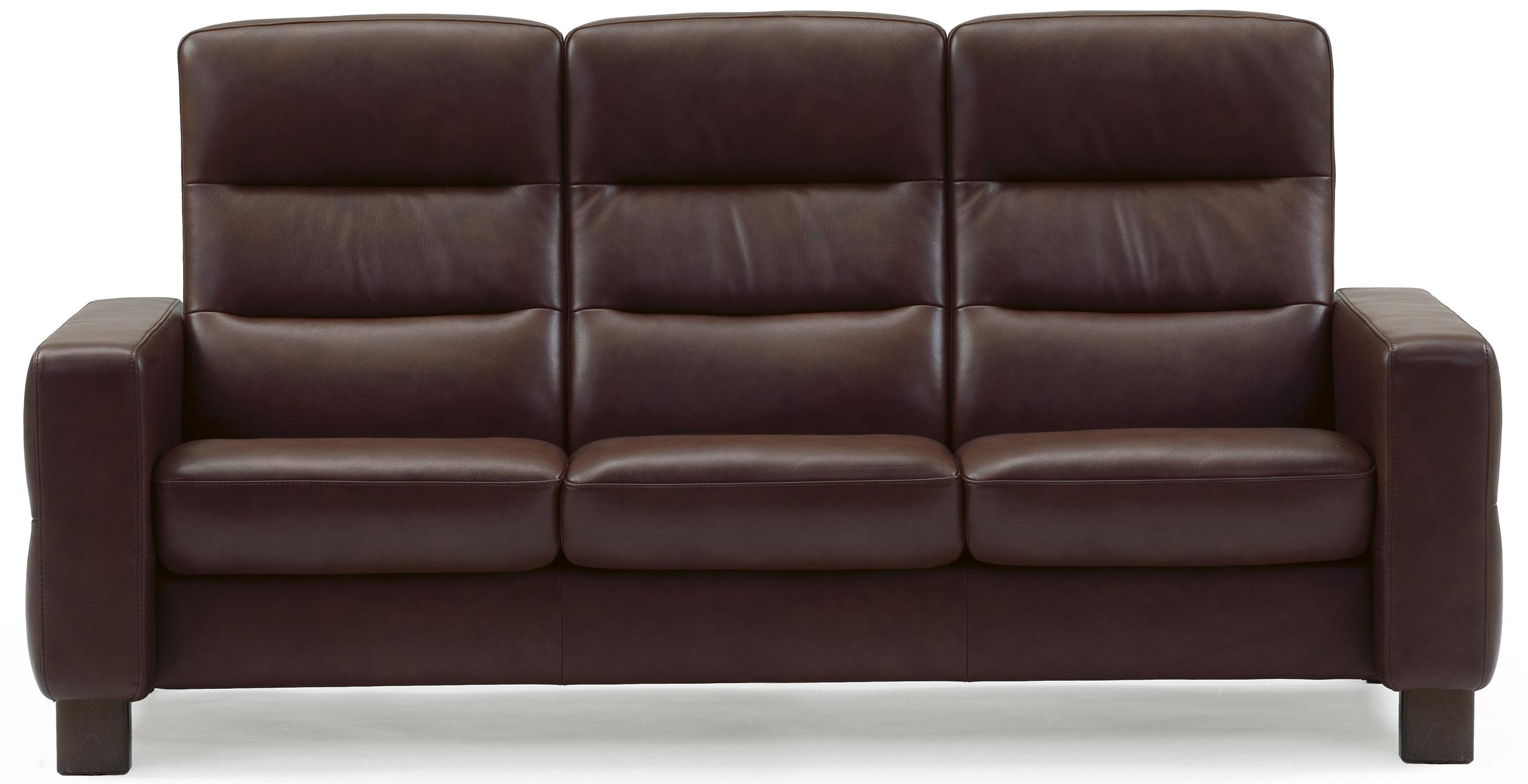 wave high back reclining sofa
