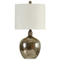 StyleCraft Lamps L32114 Antiqued Mirror Base Table Lamp ...
