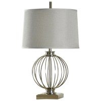 StyleCraft Lamps L38458 Transitional Polished Nickel Table
