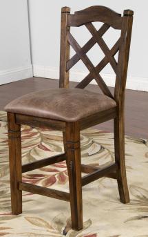 Sunny Design Savannah Double Crossback Stool With Cushion