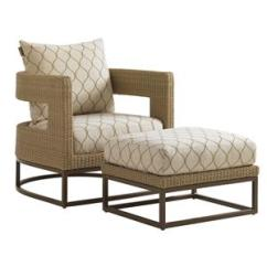 Outdoor Chair And Ottoman Target Chairs Office Tommy Bahama Living Aviano Wicker Set With Mocha Finished Aluminum Bases Baer S Furniture