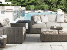 Tommy Bahama Outdoor Living Blue Olive Track Arm Lounge