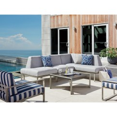 Stain Proof Sofa Large Pet Covers Tommy Bahama Outdoor Living Del Mar Three Piece L ...
