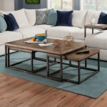 Lane Home Furnishings Chandler Contemporary Industrial Nesting Coffee Table With Distressed Finish Royal Furniture Cocktail Coffee Tables