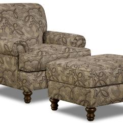 Accent Chairs With Ottomans Bath Lift Chair Reviews Simmons Upholstery 90001 And Ottoman Turned Wood
