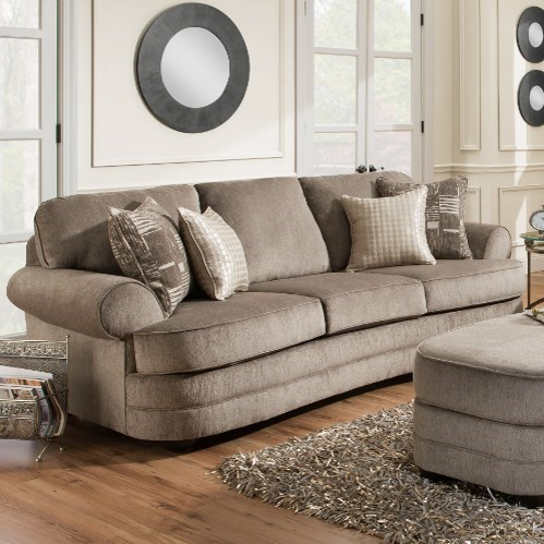 United Furniture Industries 9255BR 9255BRSOFA Transitional Sofa With Rolled Arms Household