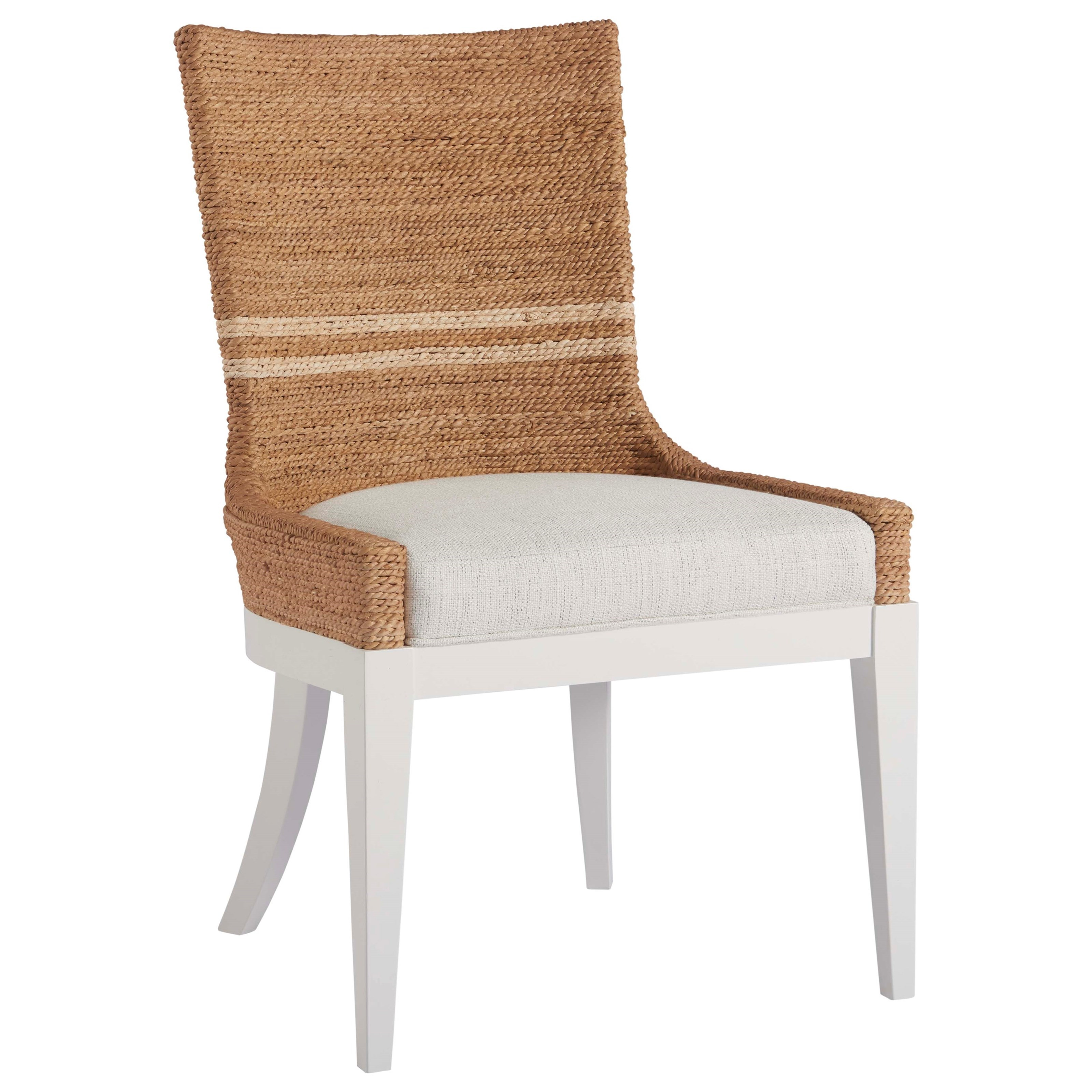 Woven Dining Chair Coastal Living Home Escape Siesta Key Dining Chair With Woven Abaca Back By Universal At Belfort Furniture