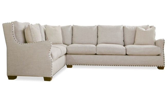 Universal Connor Traditional Sectional Sofa With Nail Head