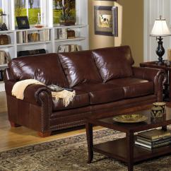 Nail Head Sofa Corner Bed 0 Finance Usa Premium Leather 7855 Traditional Stationary ...