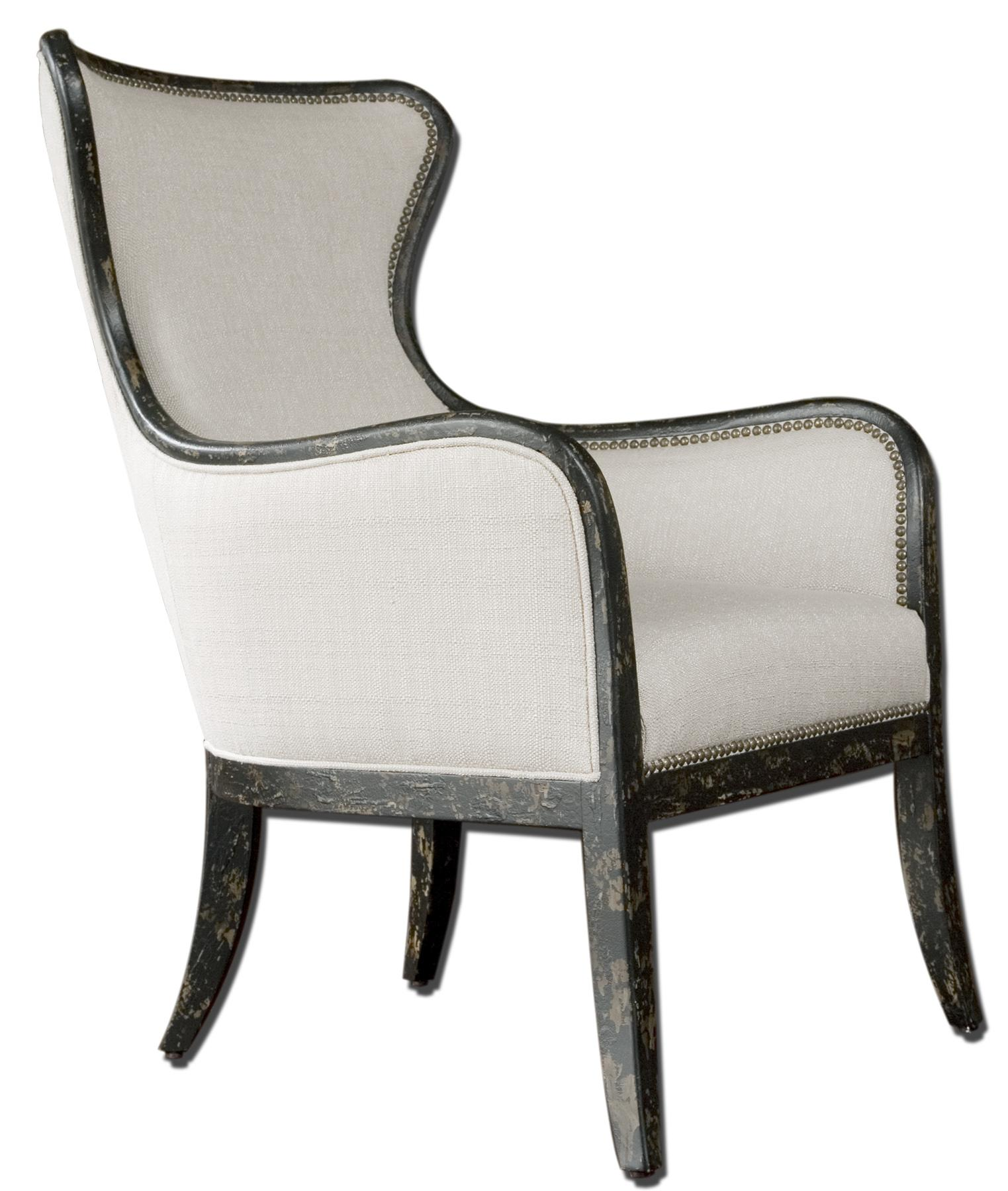 black and white accent chairs with arms cow print dining chair uttermost furniture 23073 sandy modern wing