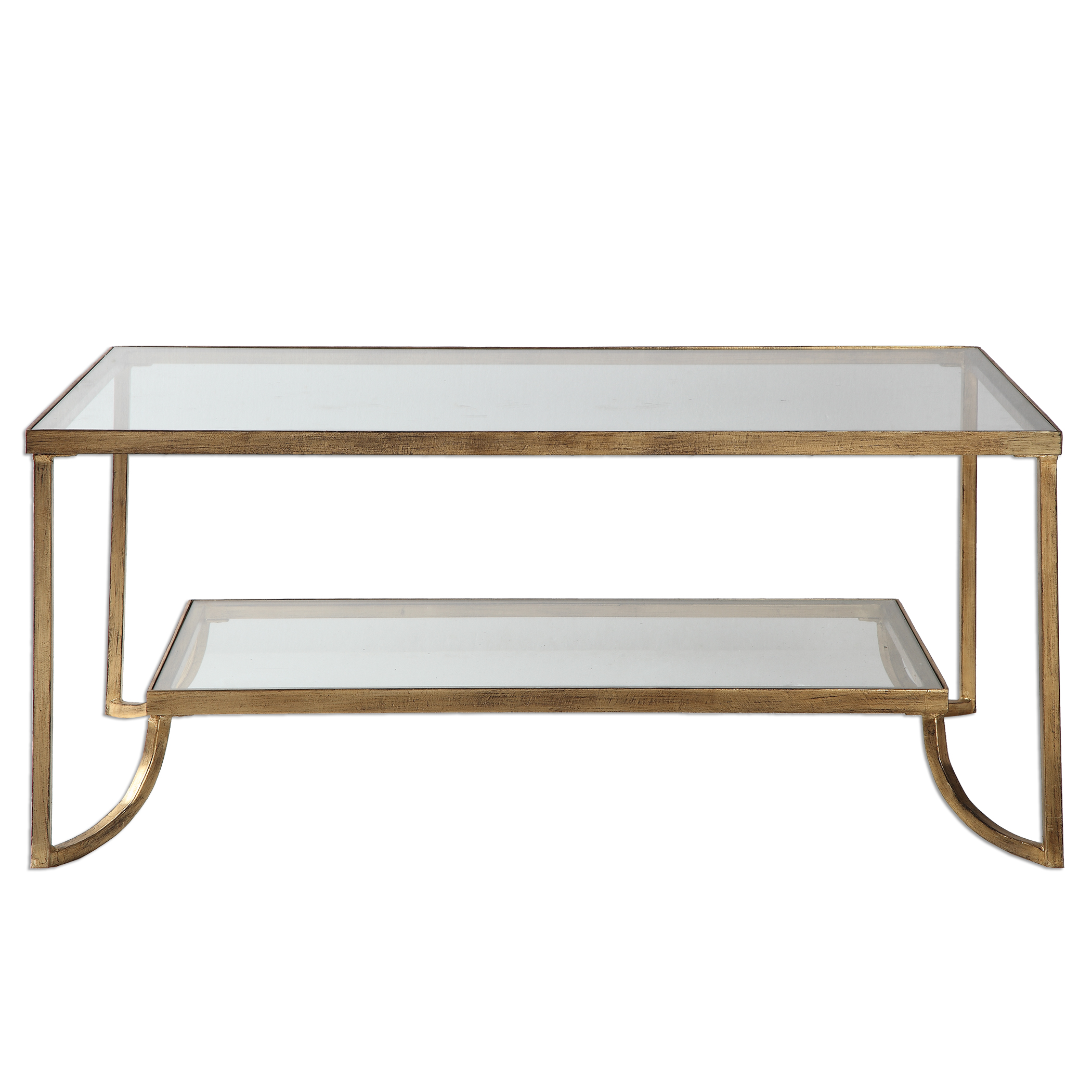 accent sofa thomasville fremont price uttermost furniture occasional tables katina gold leaf coffee table